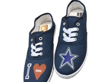GRAND OPENING SALE: Dallas Cowboys Shoes. Handpainted.