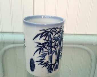Blue & White Chinoiserie Cup #3