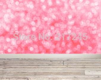 PHOTOGRAPHY Backdrop Wallpaper Prop Pink Bokeh Wood (150CM x 200CM)