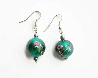 Pearl Earrings glass 'Italian style'