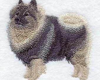 Keeshond Embroidered  on a Flour Sack Towel, Quilt Block, Quilt, Quality Turkish cotton towel, Hand Towel, Dish Towel