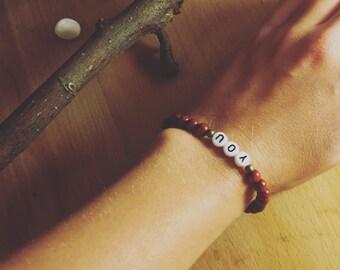 Boho bracelet you with wooden beads, Bohochic