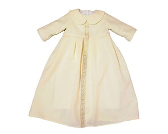Christening (Baptismal) Dress  Beige , Clothing for baptismal  religion cross