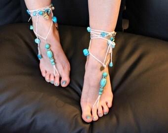 "Barefoot sandals ""Tribal Dancer of Arapahoe"""