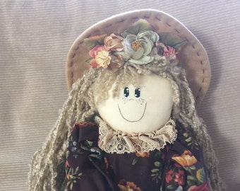 Large Vintage Handmade Cloth Doll