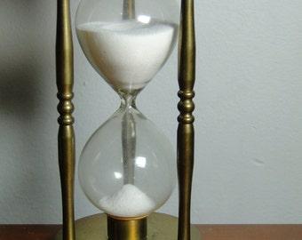 "Vintage Brass Timer - 6 1/4"" Tall - Great Item!"