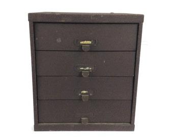 Industrial Box, Apothocary Box, Tool Box, Metal Storage Box, Art Supply Storage, Craft Storage, Metal Bin, Vintage Box