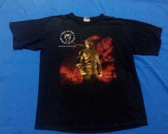 vintage michael jackson King of Pop history world tour shirt XL size