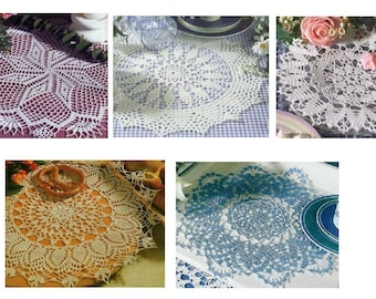5 pcs crochet doily pattern-only diagram-in pdf-27