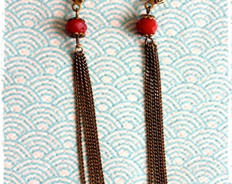 "Earrings ""Eve"" to beads to facets and chains"