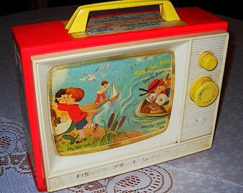Vintage 1966 Fisher Price Two Tune TV Music Box  #114