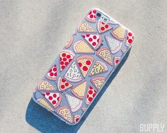 iPhone 6/6s Case - Pizza - Food, Pastel, Pizza Phone Case, Bright, Fun, Vibrant, Retro, Fitness, Health, Cute, Art, Design, Illustration,