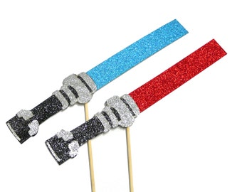 Photo Booth Props - 2PC Glitter Lightsabers Photo Booth Props