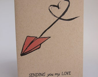 Greeting Card - Sending you my love