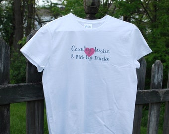 Country Music T-Shirt - Pick Up Truck - Love - Heart