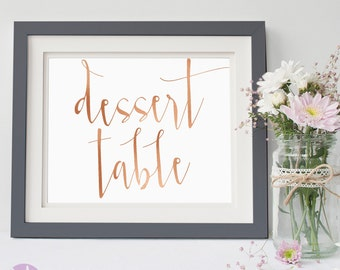 Dessert Table   Simple Rose Gold Handwritten   Wedding Signage   Wedding Ceremony   Lolly Bar   Dessert Bar   Aurora Suite Copper