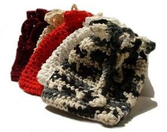 Crochet Soap Saver Pouch 100% Cotton Eco Friendly