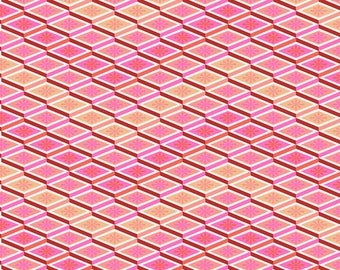 Tula Pink - Eden Collection- Labyrinth in Peach Fuzz cotton fabric by the yard or metre