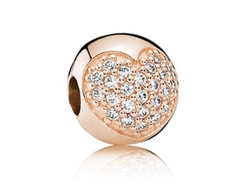 Authentic Pandora Rose Gold Open My Heart Clip Charm