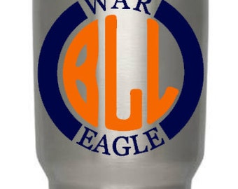 Personalized War Eagle Decal/War Eagle Car Decal/College Football Decal/Football Pride Decal/War Eagle Yeti decal/Auburn decal