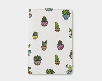 Cactus passport holder,leather passport cover,personalized passport cover,cute passport cover,custom passport cover,gift for daughter