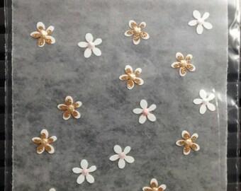 Sticker nails, 3d, wedding deco (40) flower