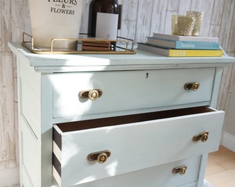 Mint dresser with detailed drawers- SOLD