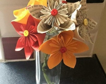 Harry Potter Gryffindor Style Paper Flower Bouquet