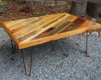 "Reclaimed Wood ""Slanted"" Coffee Table"