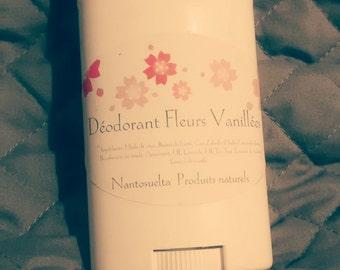 "Deodorant ""Vanilla flowers"", made in Québec"