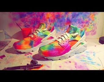 Customised Rainbow Nike Hauraches