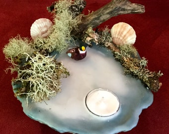 Nature candle, scented sand candle, candle, handmade candle, tea light candle