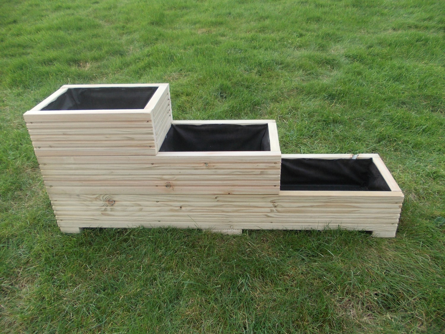 Large wooden planter window box flower herb