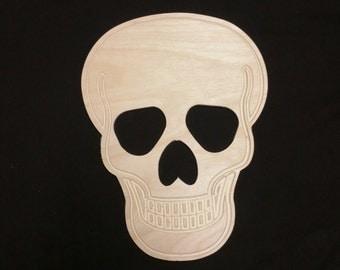 Skull, Wood Skull, Halloween Skull, Unfinished Skull