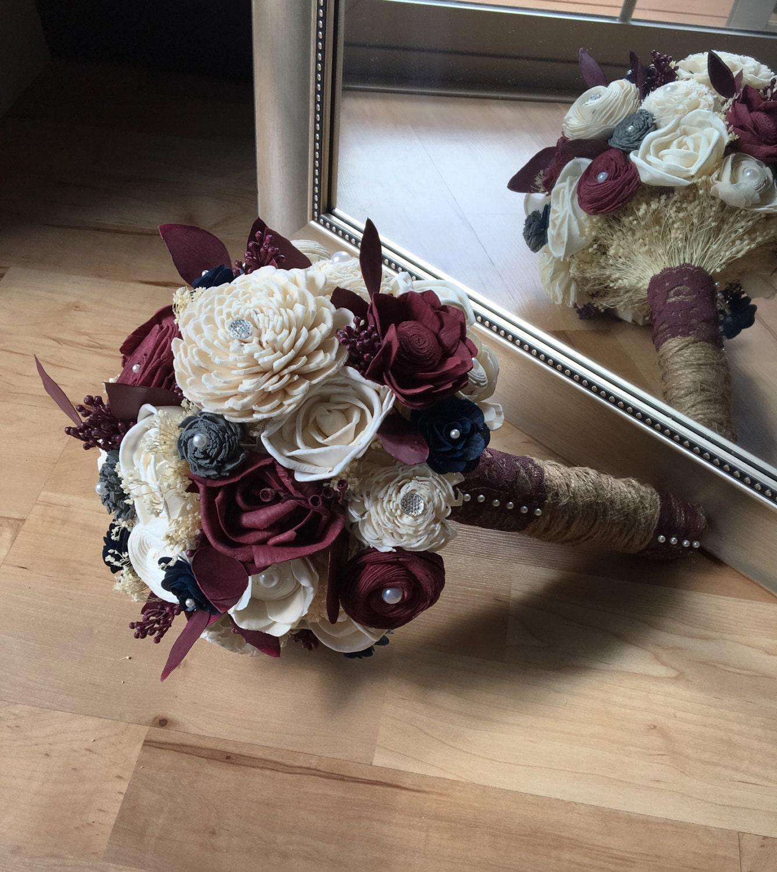 Fall Wedding Flowers List: Burgundy Wedding Bouquet Fall Wedding Bouquet Sola Wood