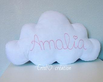 Cushion face and name cloud