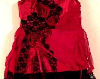 Senorita Dress, Satin, Lace, Chiffon, Baby Girl Dress, 1-2 yrs