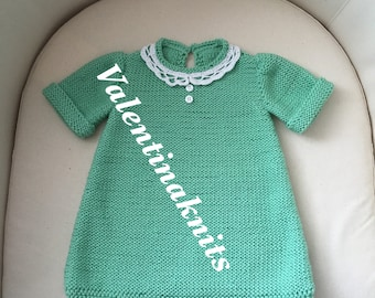 Hand-Knitted Dress For Girls And Babies