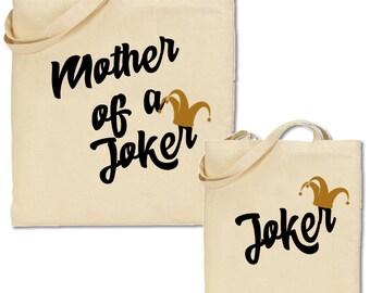 Mother of a Joker & Joker Matching Tote Bag Set