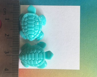 turquoise acrylic turtle (50 pieces)