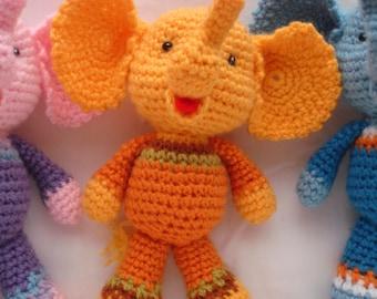Elephant crochet fabric