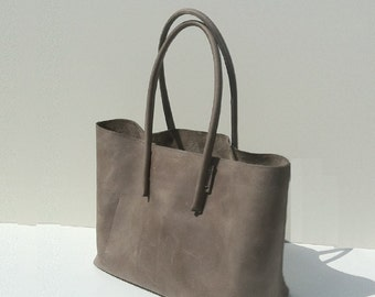 large leather bag, used look