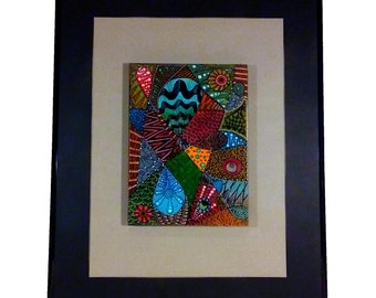 Color Pattern Mixed 41cmX51cm/with frame