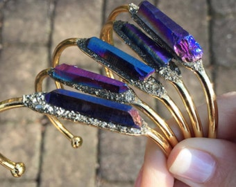 Titanium Druzy Bracelet