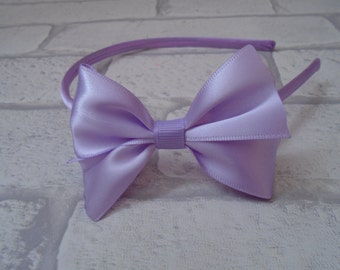 Satin bow headband, satin bow alice band, girls pretty headband, hair accessory, bow headband