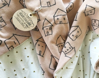 Organic blanket, organic knit blanket, baby blanket, modern baby blanket, throw blanket