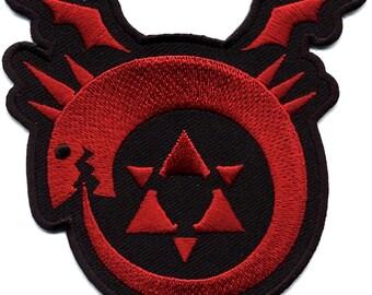 FMA Full Metal Alchemist Brotherhood Uroboros Homunculus Patch Iron On