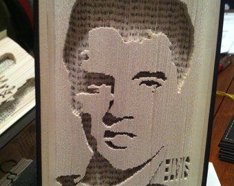 Book cut and fold pattern, Elvis