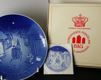 Vintage Bing & Grondahl Christmas Plate 1979 Jule After 1979 (White Christmas)