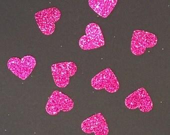 200 Hot Pink Confetti Pink Confetti Heart Confetti Glitter Confetti Shower Confetti Baby Confetti Wedding Confetti Birthday Confetti